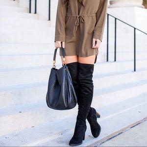 Calvin Klein Over Knee Boots Black Suede Size 9
